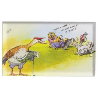 Funny Goose Table Number Holder