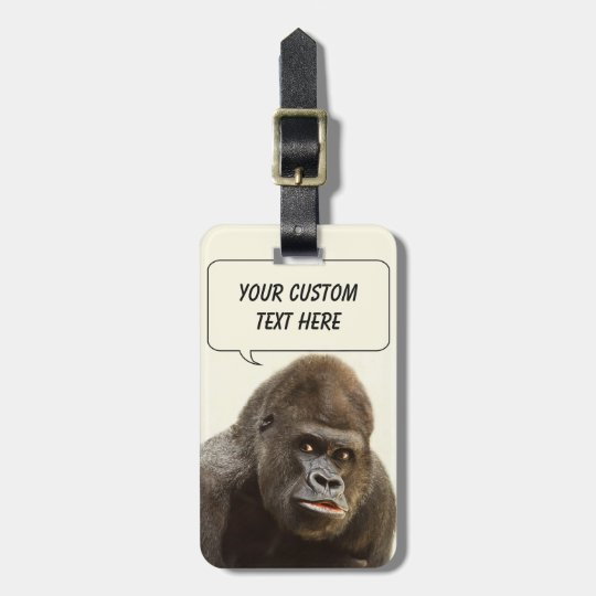 Funny Gorilla custom luggage tag
