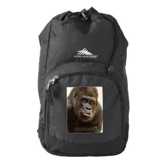 Funny Gorilla custom monogram backpacks