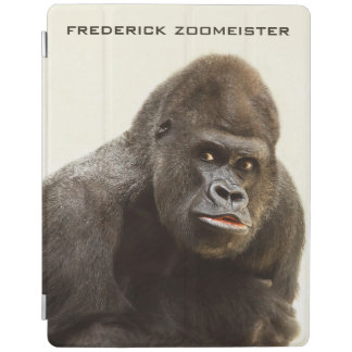 Funny Gorilla custom monogram device covers iPad Cover