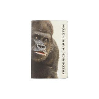 Funny Gorilla custom monogram notebooks
