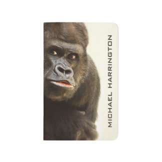 Funny Gorilla custom name pocket journal