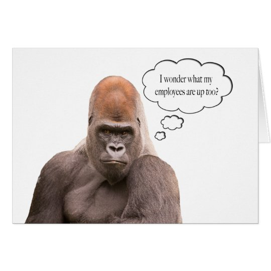 Funny Gorilla Happy Birthday Boss Card