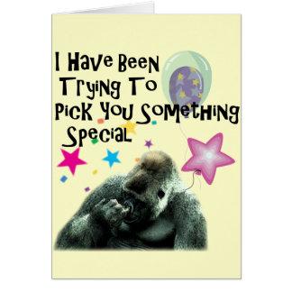 Funny Gorilla Humor Birthday Greeting Card