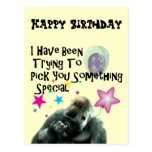 Funny Gorilla Humour Birthday Gift Post Cards