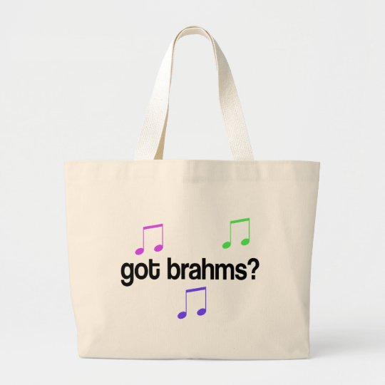 Funny Got Brahms Colourful Design Large Tote Bag