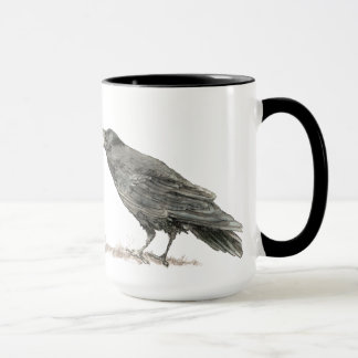 Funny Got Coffee, Where's Cake? Ravens Bird Mug