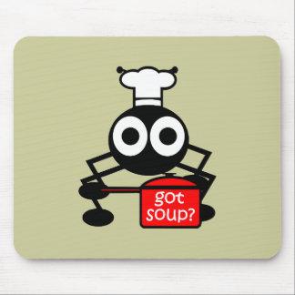 Funny got soup mouse pad