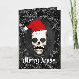 Alternative christmas cards invitations zazzle funny gothic santa christmas m4hsunfo