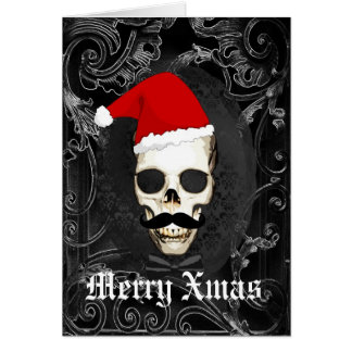 Funny Gothic Santa Christmas Greeting Card