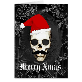 Funny Gothic Santa Christmas Note Card