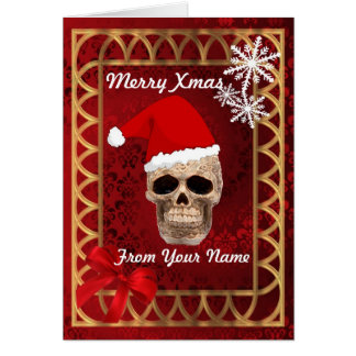 Funny Gothic santa Claus personalized christmas Card
