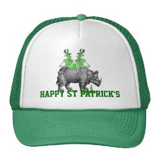 Funny gothic skeletons Irish  St Patrick's day Cap