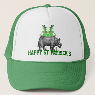 Funny gothic skeletons Irish  St Patrick's day Trucker Hat