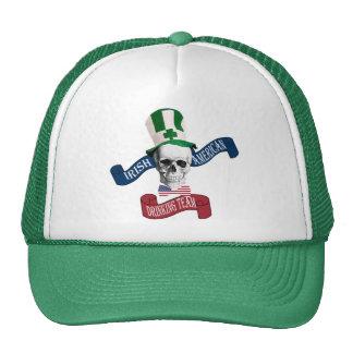Funny gothic skull Irish  St Patrick's day Cap