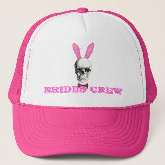 Funny gothic steampunk bunny brides crew trucker hat