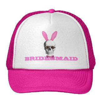 Funny gothic steampunk bunny bridesmaid cap