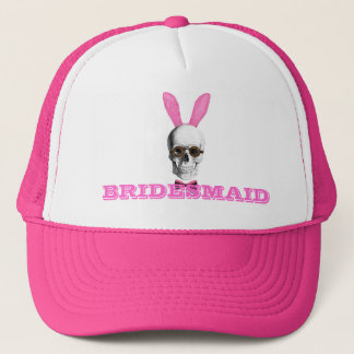 Funny gothic steampunk bunny bridesmaid trucker hat