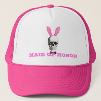 Funny gothic steampunk bunny mid of honor trucker hat