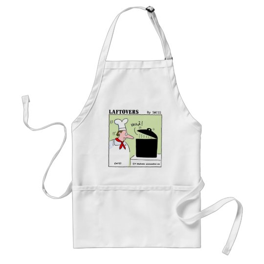 Funny Gourmet Chef Laftovers Cartoon Standard Apron