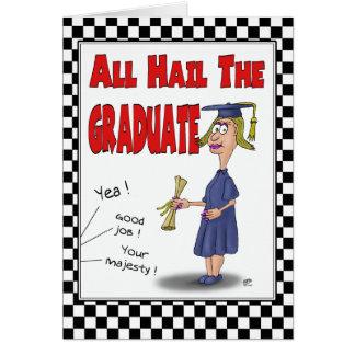 Funny Graduation Cards Hail the Graduate