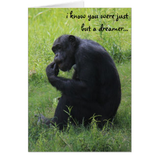 Funny Graduation, Chimpanzee Dreamer, Lemur Grad Greeting Card