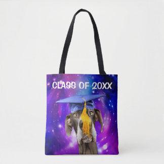 Funny Graduation Dog Wearing Hat Tote Bag