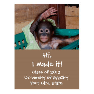 Funny Graduation Photo Announcements Post Cards
