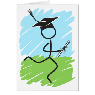 Funny Graduation Runner - Cross Country, Track Card