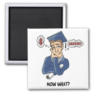 Funny Graduation Square Magnet