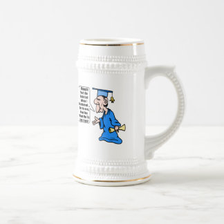 Funny Graduation T Shirts and Gifts Beer Stein