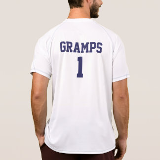 Funny Gramps personalized sports jersey Tees