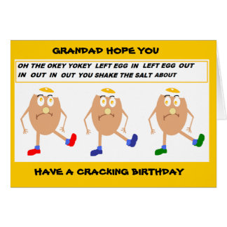 Funny grandad birthday card