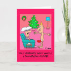 Funny Grandfather personalized Christmas card