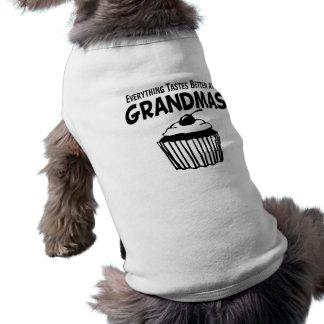 Funny Grandma Cupcake Doggie Shirt