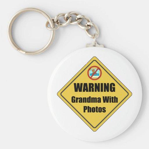 Funny Grandma Gift Basic Round Button Key Ring