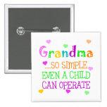 Funny Grandma Gift Pin