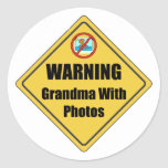 Funny Grandma Gift Round Sticker