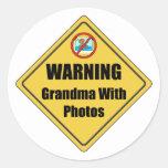 Funny Grandma Gift Round Stickers