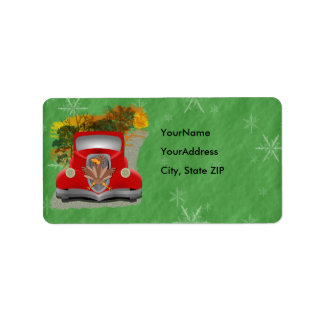 Funny Grandmother's House Holiday Label Address Label