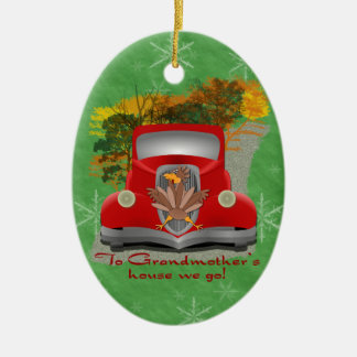 Funny Grandmother's House Holiday Ornament