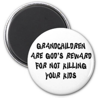 Funny Grandparents 6 Cm Round Magnet