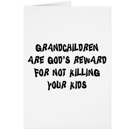 Funny Grandparents Gift Cards