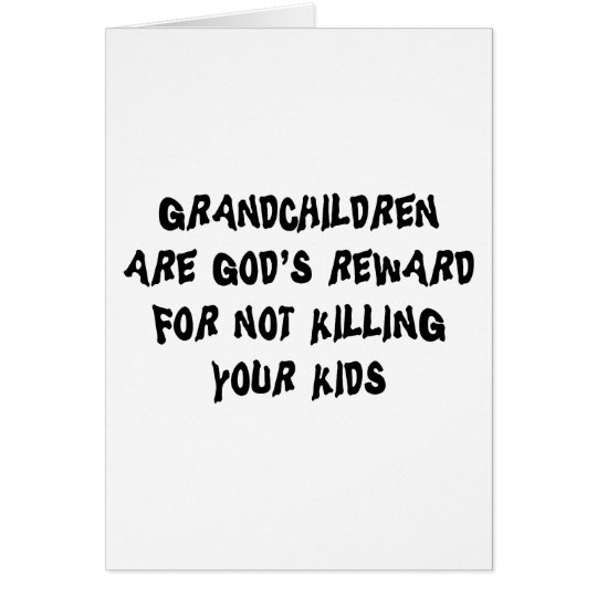 Funny Grandparents Gift Greeting Card