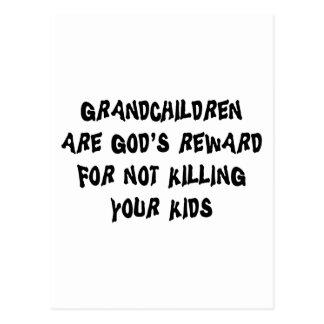 Funny Grandparents Gift Postcard