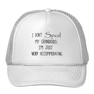 Funny Grandparents Quote Spoiling the Grandkids Mesh Hats