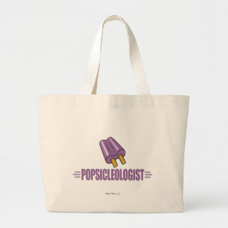 Funny Grape Popsicle Lover Large Tote Bag