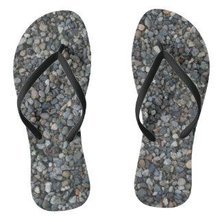 Funny Gravel Rocks Pebbles Flip Flops