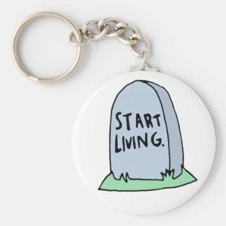 Funny Gravestone Keychain
