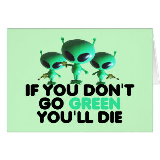 Funny green greeting card
